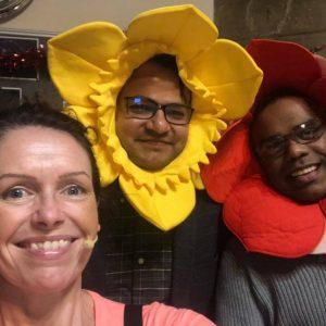 Auntie jojo flower hats game show