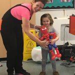 auntie jojo with spiderman balloon
