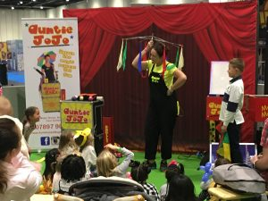 auntie jojo performing as a kids show