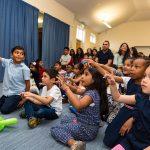 children at a magic show in harrow