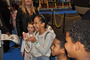 Amazed kids with Magic Martin in London treade show