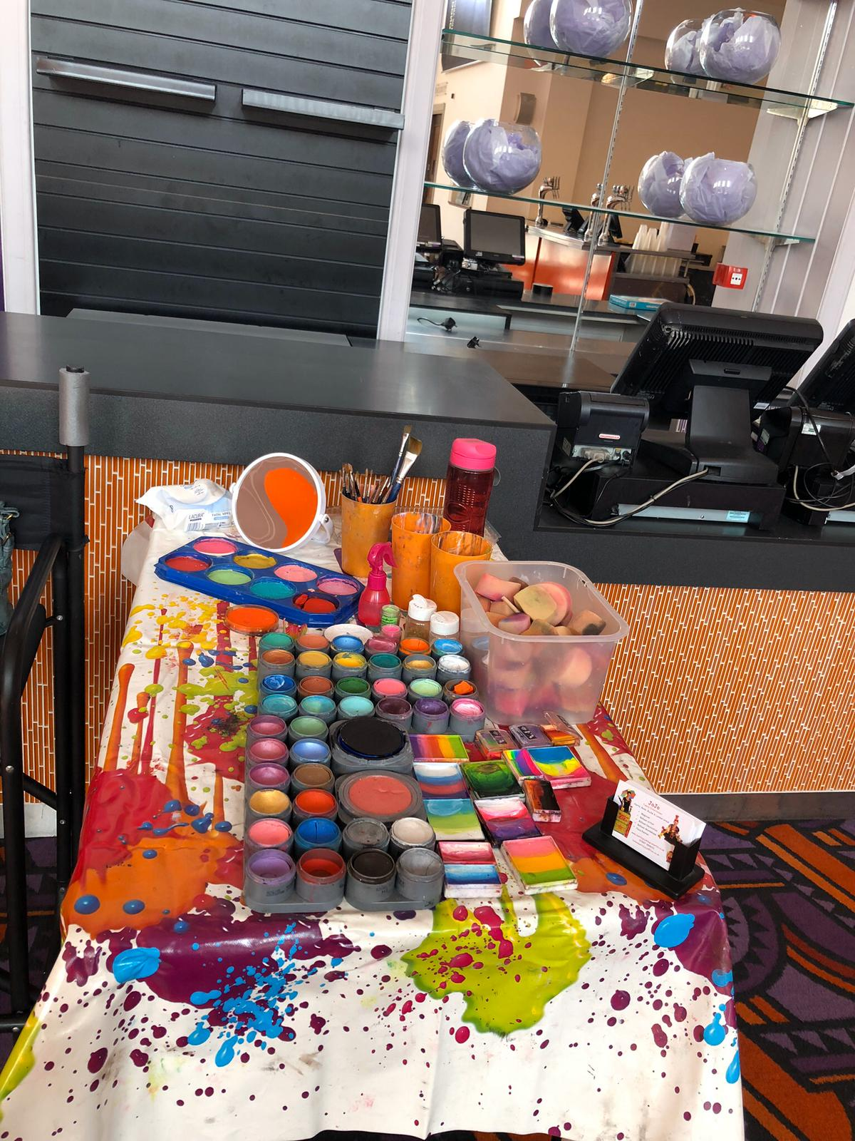 face painting table