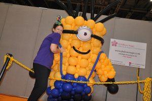 Auntie JoJo giant balloon walkabout Minion