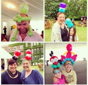 selection of balloon hats