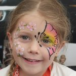 butterfly and flowers face paint