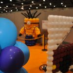 giant balloon minion at london excel centre