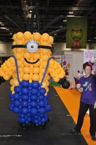 giant balloon minion and auntie jojo