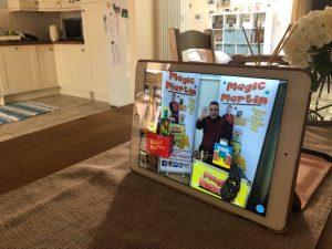 magic martin performing an online magic show