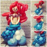 little mermaid balloon model