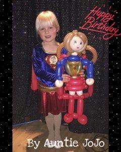 super woman balloon model