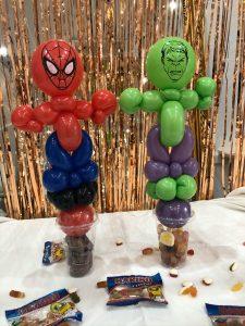 spiderman and hulk balloon model