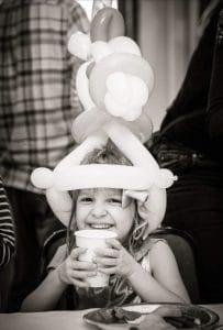 girls balloon hat