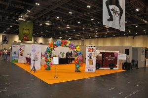 balloon stand at the trade show